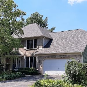 Roofing certainteed landmark weathered wood asphalt shingles Batavia