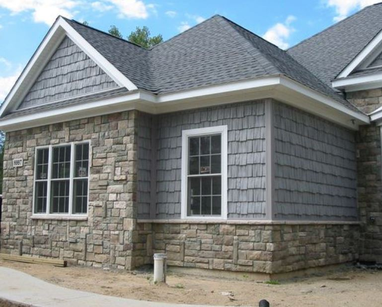 Apex Exterior Services - Cultured stone siding in Bartlett, IL